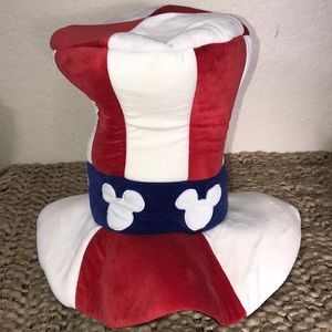 Disney Patriotic USA Flag Tall Top Hat Costume